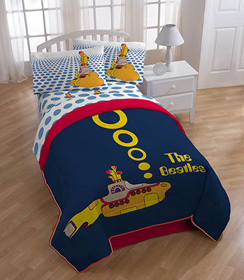 Beatles Yellow Submarine Twin Full Comforter 1980 52