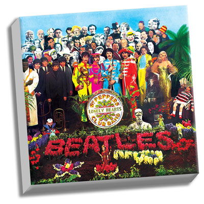 Beatles Sgt Pepper Album Cover 20 X 20 Canvas 3139
