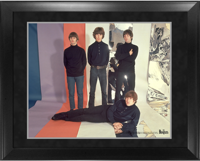 "BEATLES 1965 IMAGE 16"" x 20"" FRAMED PRESENTATION"