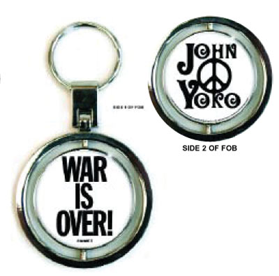 WAR IS OVER SPIN KEY CHAIN