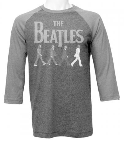 BEATLES GRAY ABBEY RD. RAGLAN JERSEY