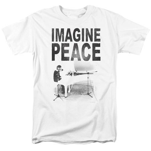 JOHN LENNON IMAGINE PEACE WHITE TEE 5443