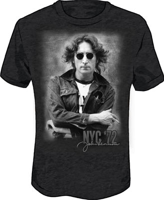 LENNON CHARCOAL NYC TEE - Small [5621] - $22.00 : Beatles Gifts, The Fest for Beatles Fans