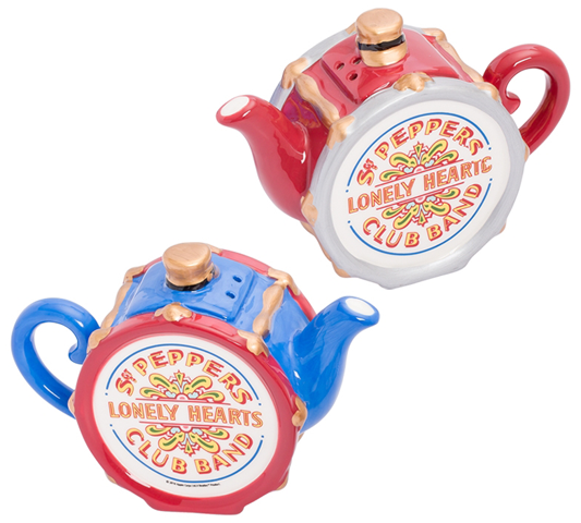 BEATLES SGT PEPPER'S SALT & PEPPER TEAPOT SET
