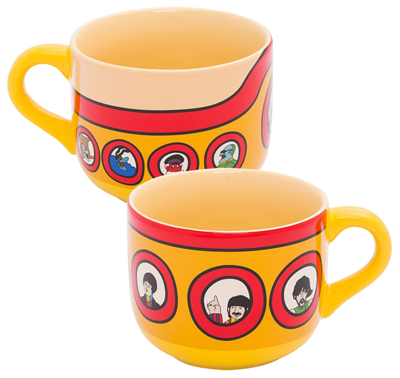 BEATLES YELLOW SUBMARINE 20 OZ CERAMIC SOUP MUG