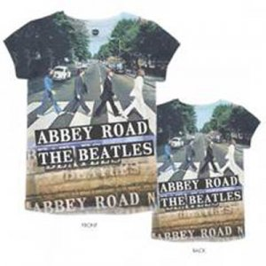 FITTED FEMME SLIM CUT ABBEY ROAD ALLOVER T-SHIRT