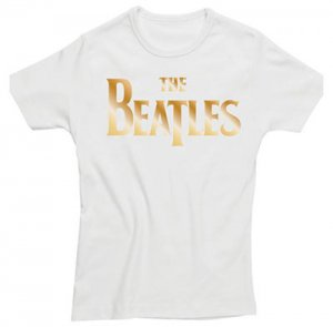 LADIES BEATLES GOLD LOGO T-SHIRT