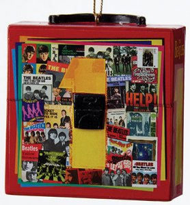 "2.75"" BEATLES ""1"" RECORD CASE ORNAMENT"