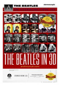 THE BEATLES IN STEREOSCOPIC 3D - PROMOTIONAL ART PRINT