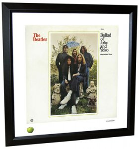 BEATLES BALLAD OF JOHN & YOKO LITHOGRAPH - FRAMED