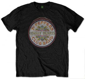 "BEATLES SGT. PEPPER ""3D DRUM"" BLACK T"