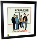 BEATLES I FEEL FINE LITHOGRAPH - FRAMED