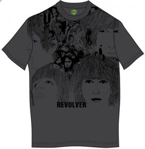 LARGE IMAGE REVOLVER GRAY TEE