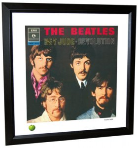 BEATLES HEY JUDE (VERSION 2) LITHOGRAPH - FRAMED