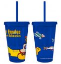 YELLOW SUBMARINE 16 OZ FULL WRAP TUMBLER W/STRAW