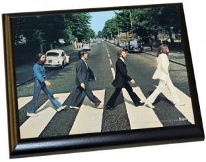 "BEATLES 1969 ABBEY ROAD 8"" x 10"" PLAQUE"
