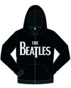 BEATLES BLACK LOGO ZIPPER HOODIE