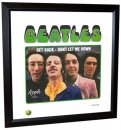 BEATLES GET BACK (VERSION 3) LITHOGRAPH - FRAMED
