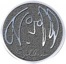 JOHN LENNON SELF PORTRAIT CHROME PIN BADGE