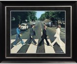 "BEATLES ABBEY ROAD IMAGE 11"" x 14"" FRAMED"