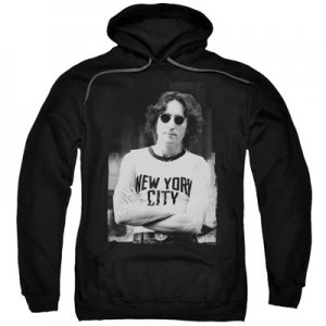 LENNON NYC BLACK HOODED SWEATSHIRT- Med