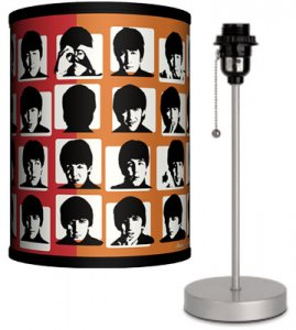 BEATLES HARD DAY'S NIGHT LAMP-SILVER SPORT BASE