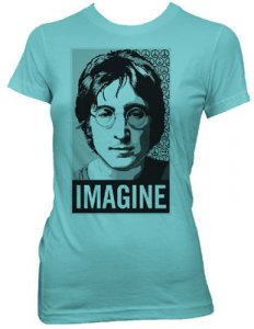 JOHN LENNON JR GIRLS TEAL IMAGINE T-SHIRT - Save 40%