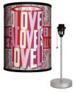 BEATLES YELLOW SUB LOVE IS LAMP-SILVER SPORT BASE