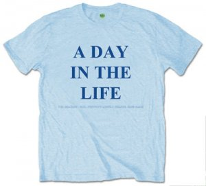 "BEATLES ""A DAY IN THE LIFE"" LT. BLUE T"