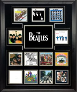 THE BEATLES U.K. ALBUM DISCOGRAPHY COLLAGE