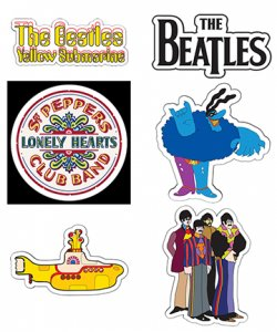 SET OF 6 NEW BEATLES STICKERS
