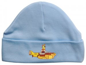 EMBROIDERED CHILD'S BLUE BEANIE