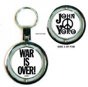 JOHN LENNON WAR IS OVER SPIN KEY CHAIN - Last 3