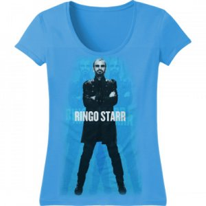 FITTED FEMME SLIM CUT RINGO STARR BLUE T-Small