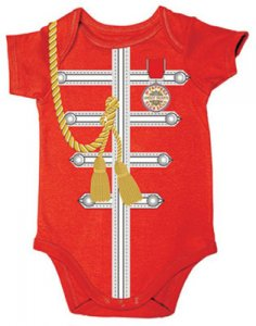 SGT. PEPPER RED UNIFORM ONESIE