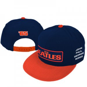 THE BEATLES '65 FLAT BRIM EMBROIDERED BASEBALL HAT