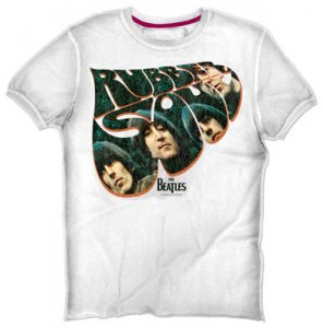 THE BEATLES RUBBER SOUL WHITE T-SHIRT