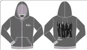 BEATLES ICONIC STANCE GRAY ZIPPER HOODIE