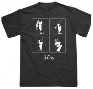 BEATLES WHITE ALBUM SILHOUETTE BLACK T