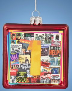 BEATLES 1 SQUARE GLASS 2015 ORNAMENT