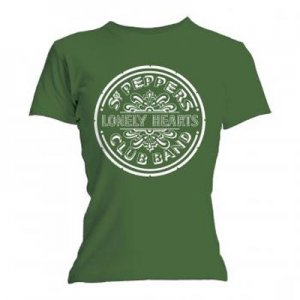 FITTED FEMME SLIM CUT GREEN SGT PEPPER T-SHIRT - XL - Last One