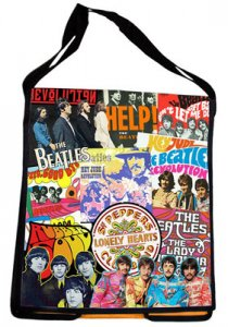BEATLES RECYCLED MESSENGER TOTE