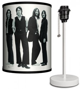 BEATLES ICONIC IMAGE LAMP-WHITE SPORT BASE