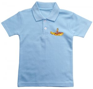 CHILD'S EMBROIDERED BLUE POLO SHIRT