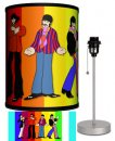 BEATLES YELLOW SUB STANDING RAINBOW LAMP-SILVER SPORT BASE