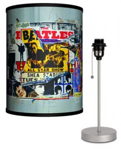 BEATLES ANTHOLOGY COVERS LAMP-SILVER SPORT BASE
