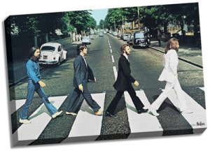 "THE BEATLES ABBEY ROAD 24"" x 36"" CANVAS"