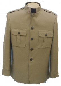 SHEA STADIUM JACKET - TAN - must specify size and length