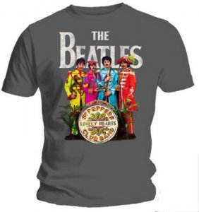 THE BEATLES SGT PEPPER CHARCOAL T-SHIRT