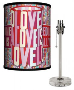 BEATLES YELLOW SUB LOVE IS LAMP-CRYSTAL BASE